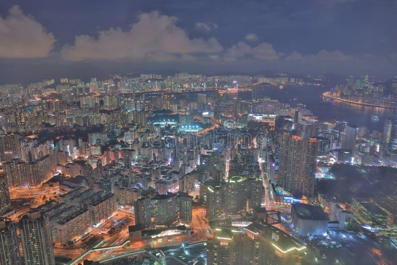 une vue de nuit Kowloon d'icc image libre de droits