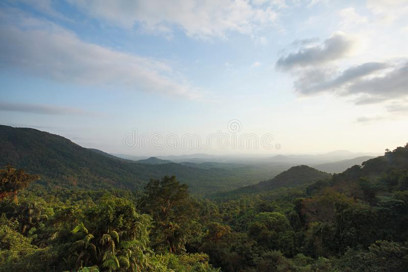 Une vue de paysage de parc national de Mollem de Goa photo libre de droits