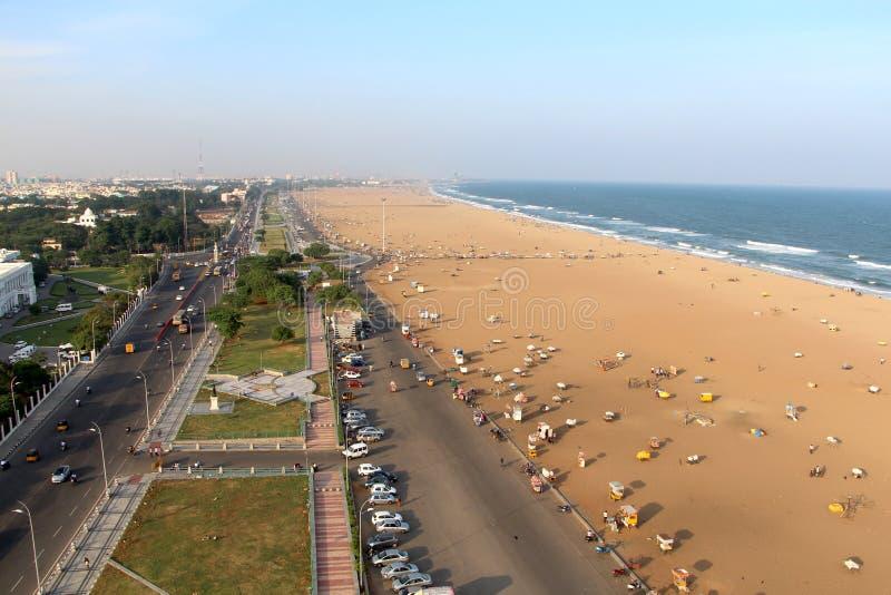 Une vue de phare de Chennai photographie stock