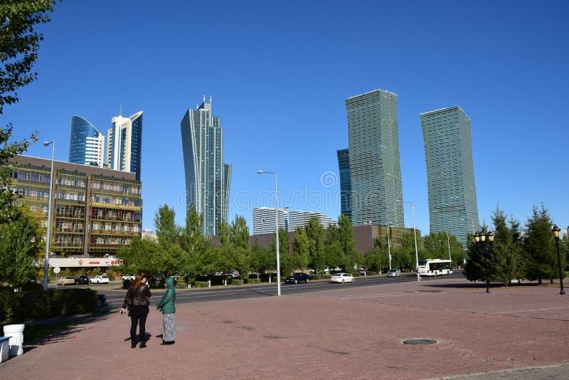 Une vue de rue à Astana photographie stock