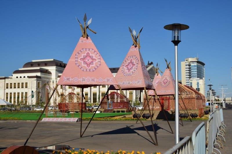 Une vue de rue à Astana/Kazakhstan photo libre de droits