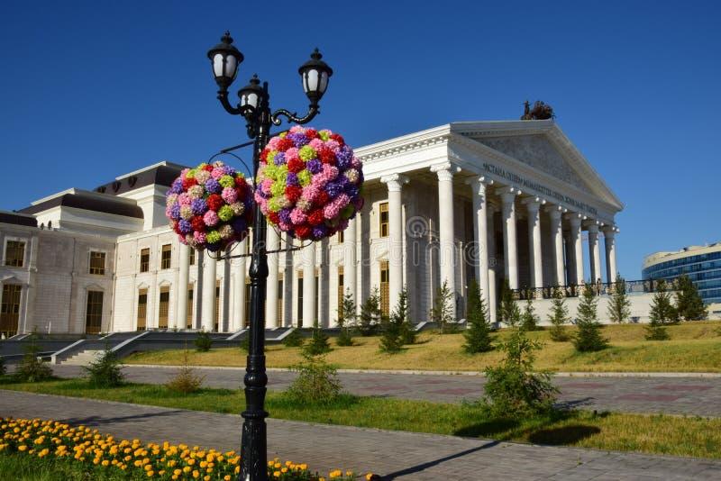 Une vue de rue à Astana/Kazakhstan images libres de droits