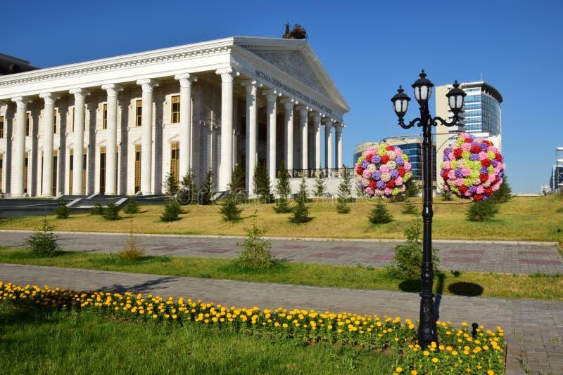 Une vue de rue à Astana/Kazakhstan photos libres de droits