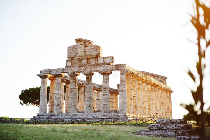 Une vue de temple de Paestum, Salerno, Italie photographie stock