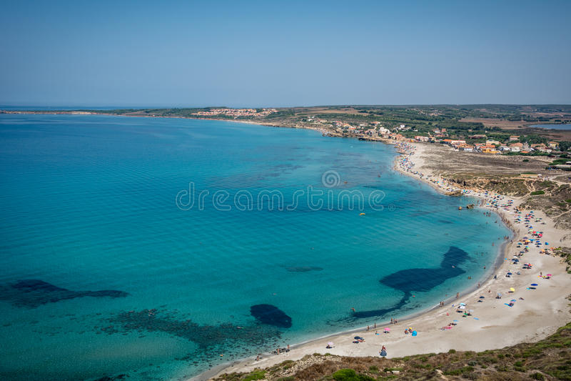 Une vue de tour de Tharros, Sardaigne images libres de droits