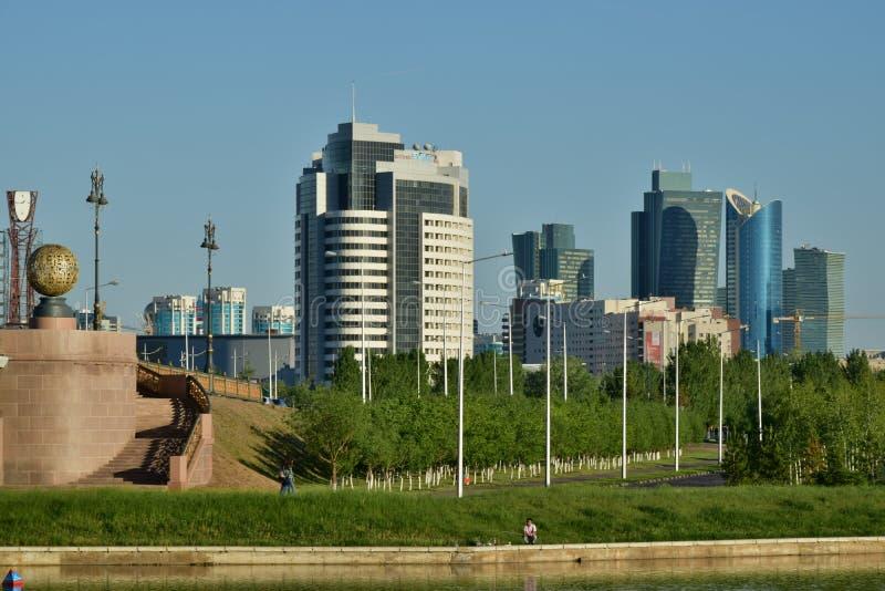 Une vue de ville à Astana/Kazakhstan photo libre de droits