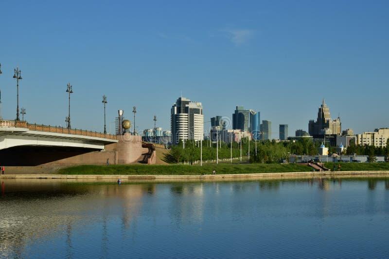 Une vue de ville à Astana/Kazakhstan photographie stock libre de droits