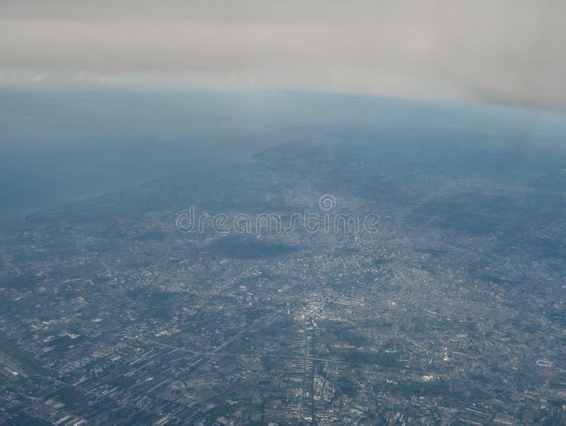 Une vue de ville de Bangkok d'un avion photo stock