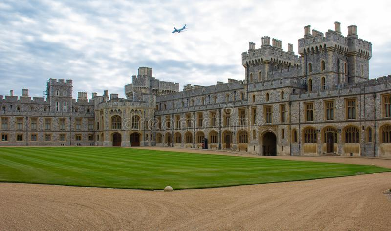 Une vue de Windsor Castle images stock