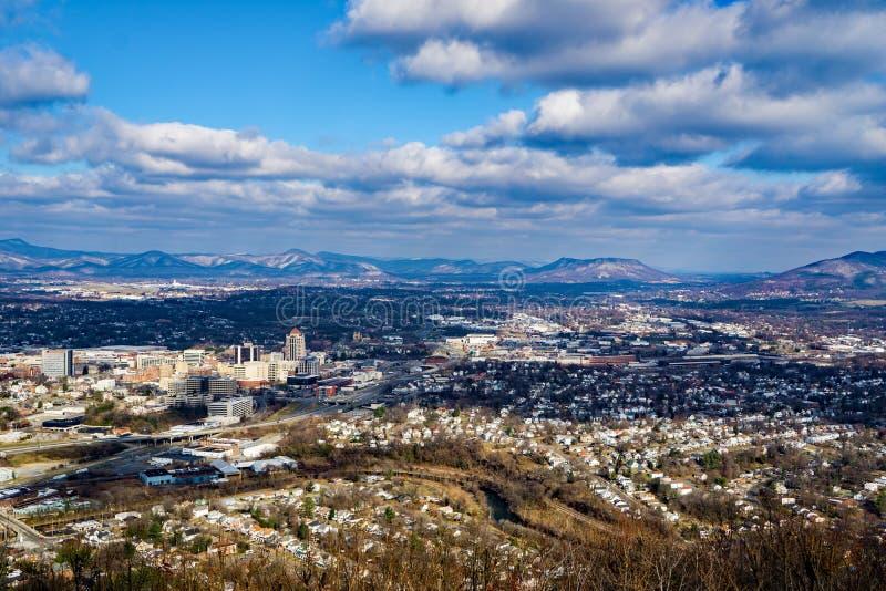 Une vue de Winter's de la vallée de Roanoke, la Virginie, Etats-Unis images stock