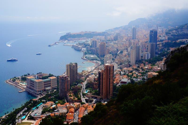 Une vue du Monaco image libre de droits