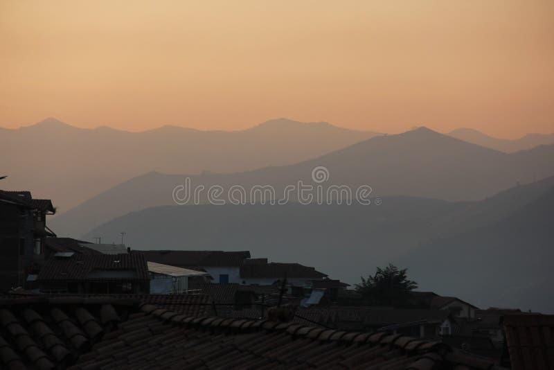 Une vue earial au-dessus de Cuzco image stock