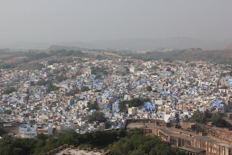 Une vue earial au-dessus de Jodhpur photos libres de droits