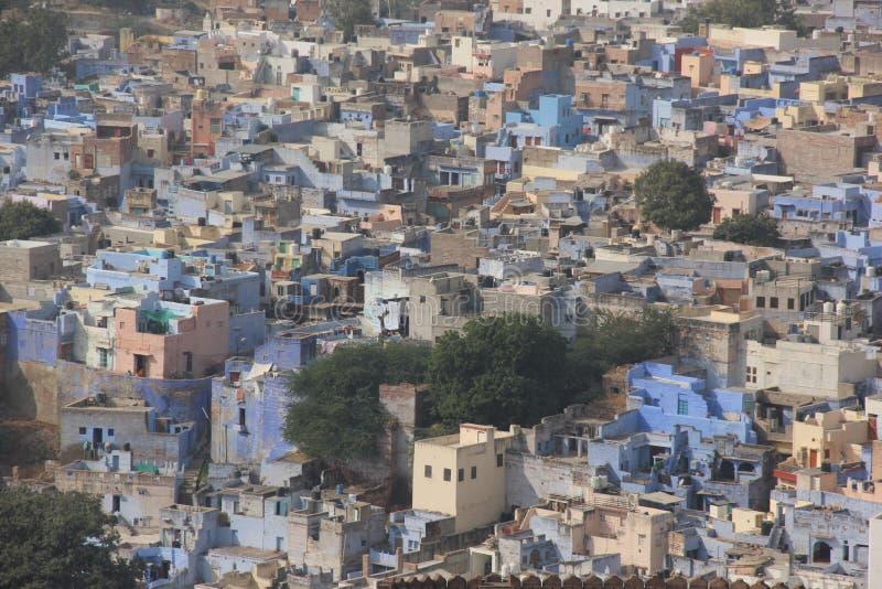 Une vue earial au-dessus de Jodhpur photographie stock libre de droits