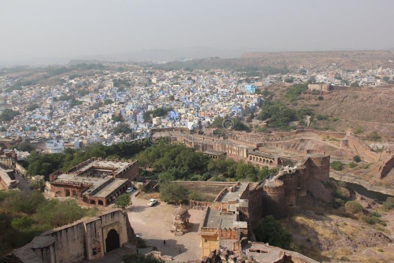 Une vue earial au-dessus de Jodhpur images libres de droits