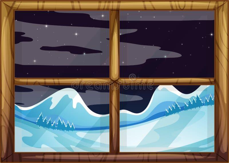 Une vue en dehors de fenêtre illustration libre de droits