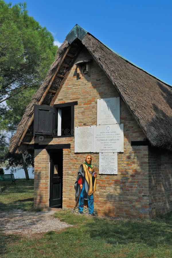 Une vue externe de la hutte de Garibaldi photos libres de droits