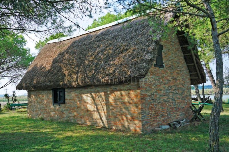 Une vue externe de la hutte de Garibaldi images libres de droits