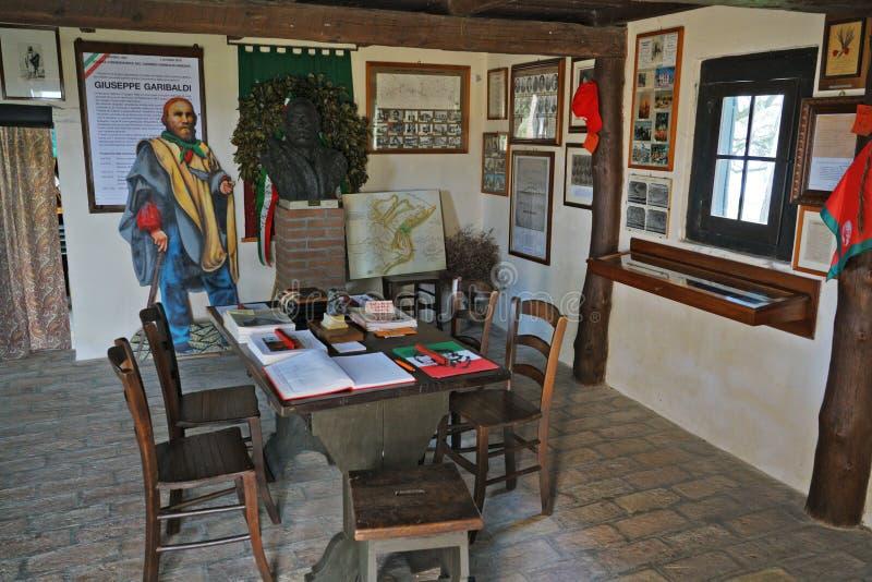 Une vue externe de la hutte de Garibaldi photo libre de droits