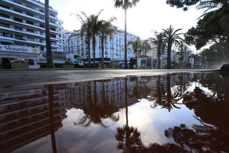 Une vue générale d'hôtel Martinez de rue photo libre de droits