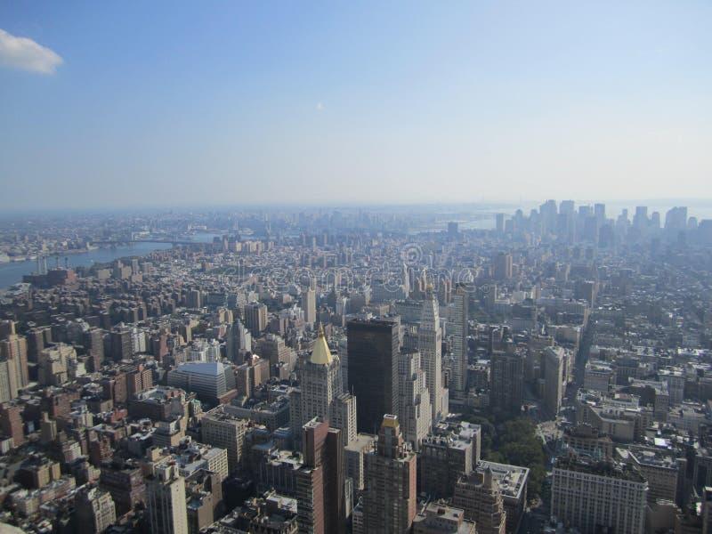 Une vue gentille de l'Empire State Building photos libres de droits