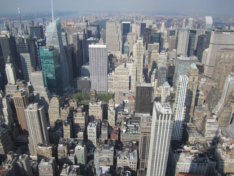 Une vue gentille de l'Empire State Building photo stock