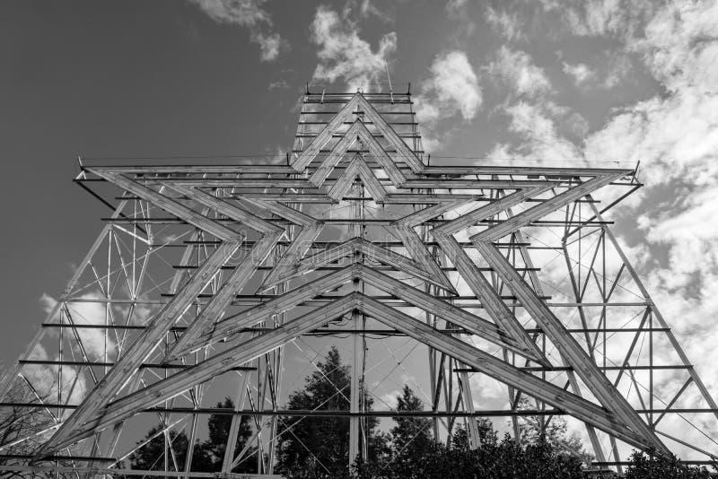 Une vue horizontale de l'étoile de Roanoke, Roanoke, la Virginie, Etats-Unis photo stock