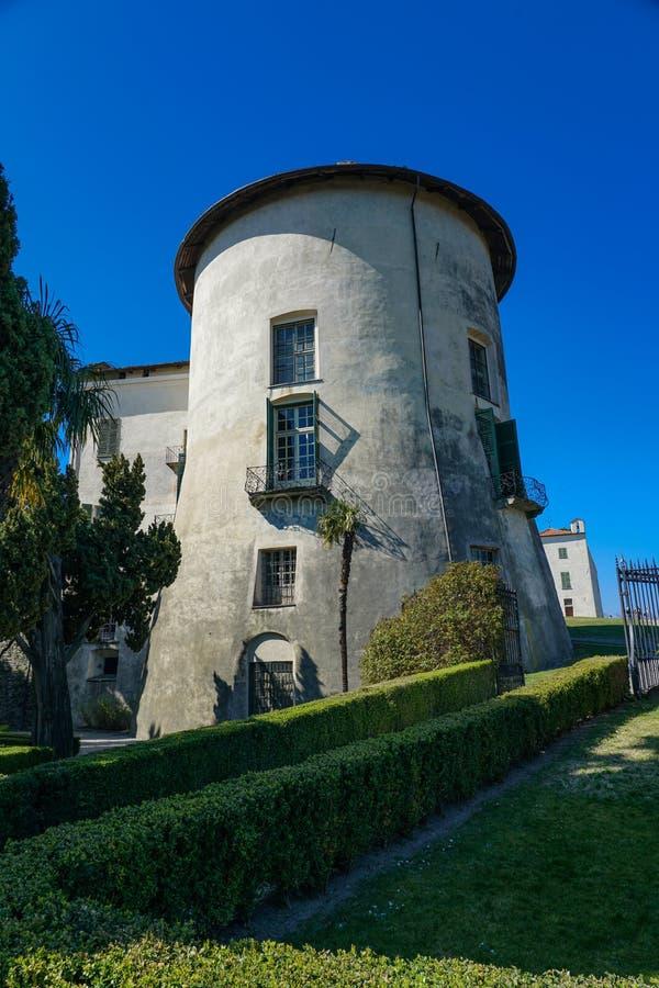 Une vue magnifique du château de Masino photos libres de droits