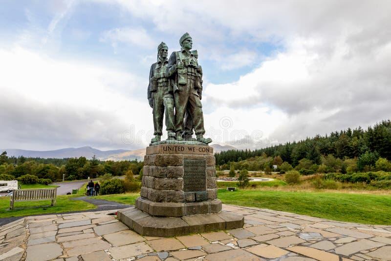 Une vue scénique d'un des monuments les plus connus en Ecosse, le mémorial de commando photos stock