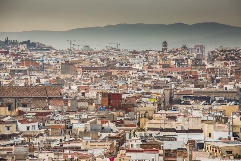 Une vue supérieure de Barcelone photos libres de droits