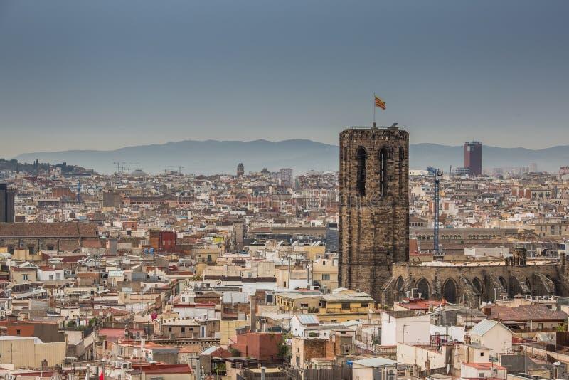 Une vue supérieure de Barcelone photo stock