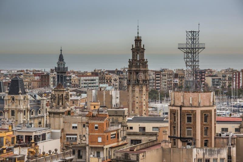 Une vue supérieure de Barcelone photos stock