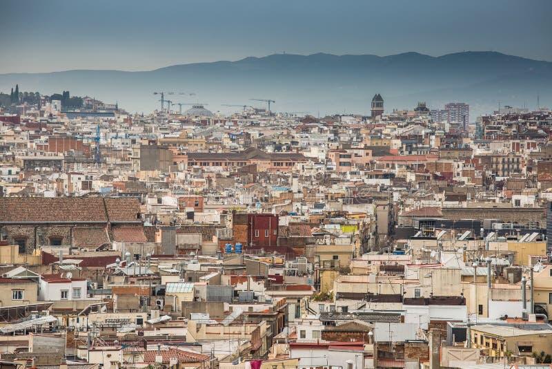 Une vue supérieure de Barcelone image libre de droits