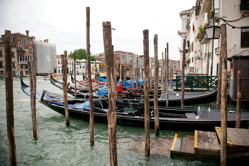Une vue sur Grand Canal à Venise photo libre de droits