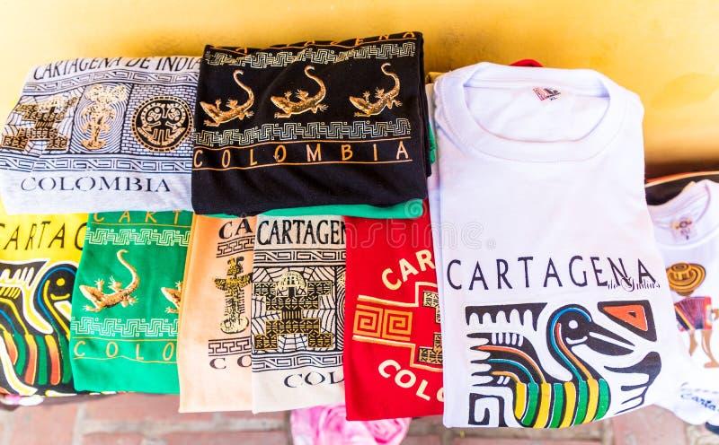 Une vue typique de Carthagène Colombie images stock