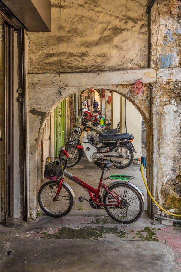 Une vue typique en George Town Malaysia images libres de droits