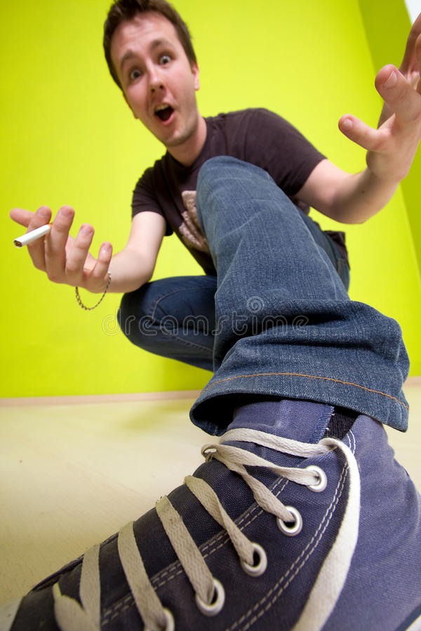 Download Uneasy man stock photo. Image of camera, looking, facial - 10601540