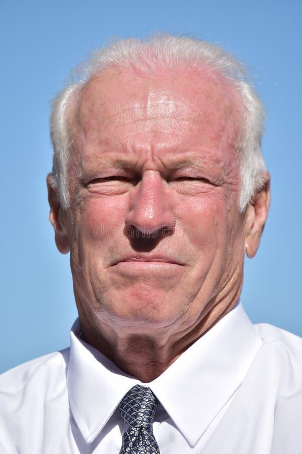 Unemotional Dorosły Starszy dyrektor wykonawczy Odizolowywający fotografia royalty free
