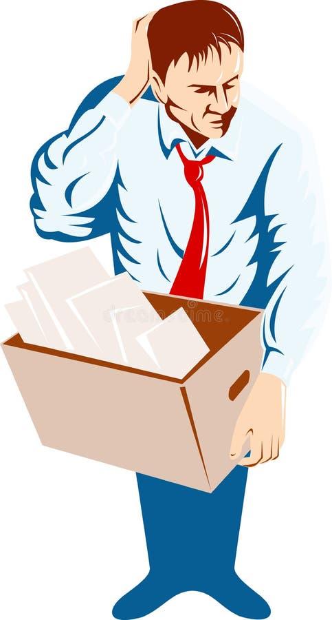 Unemployed man vector illustration