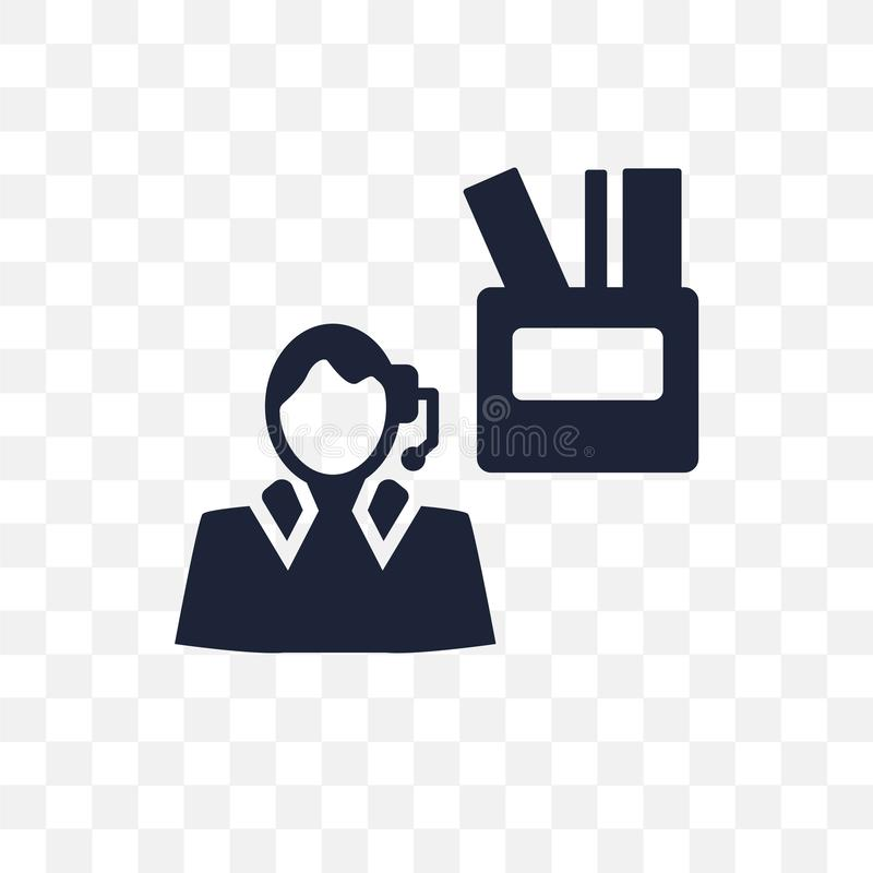 Unemployed transparent icon. Unemployed symbol design from Insurance collection. Simple element vector illustration. Can be used vector illustration