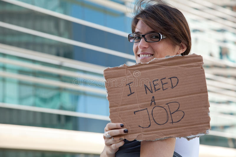 Download Unemployed woman stock image. Image of advertisement - 11289005