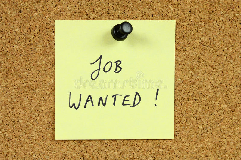 Download Unemployment stock image. Image of message, handwriting - 14851317