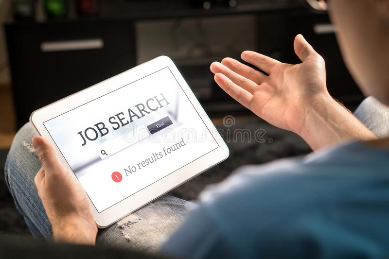 Unemployment and job search problem. stock images
