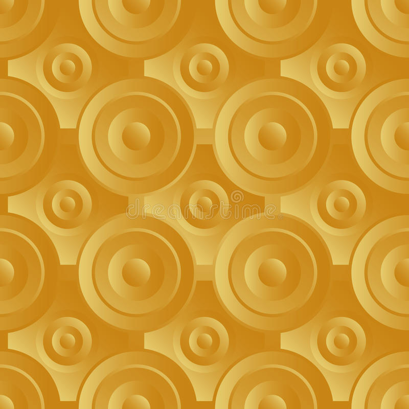 Unending Raster Gold Royalty Free Stock Photography