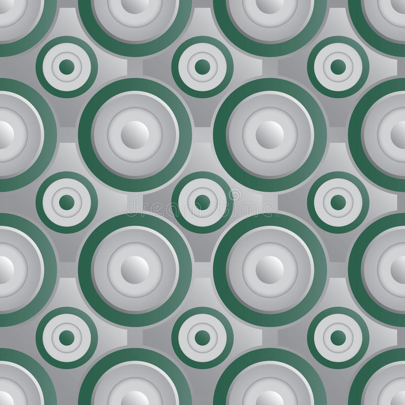 Unending Raster Green Silver Royalty Free Stock Photo