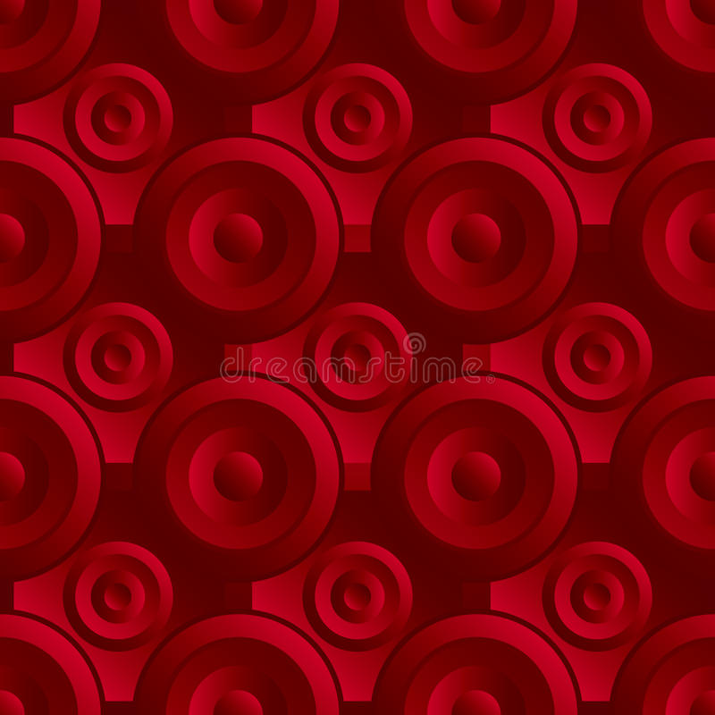 Unending Raster Red Royalty Free Stock Image