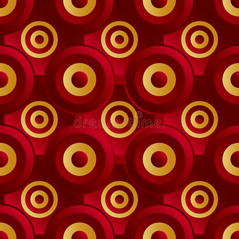 Download Unending raster red gold stock vector. Illustration of carpet - 35092754