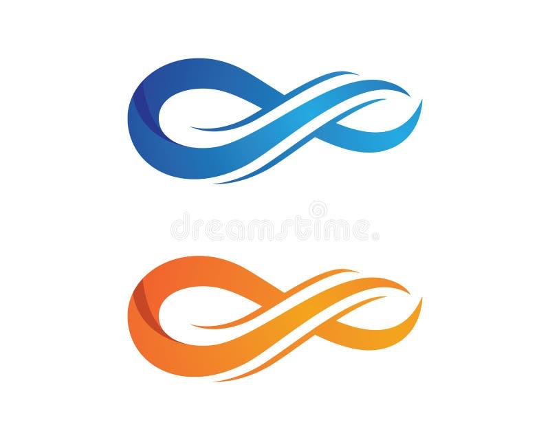 Unendlichkeit Logo Template vektor abbildung