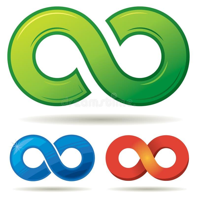 Unendlichkeits-Logo lizenzfreie abbildung