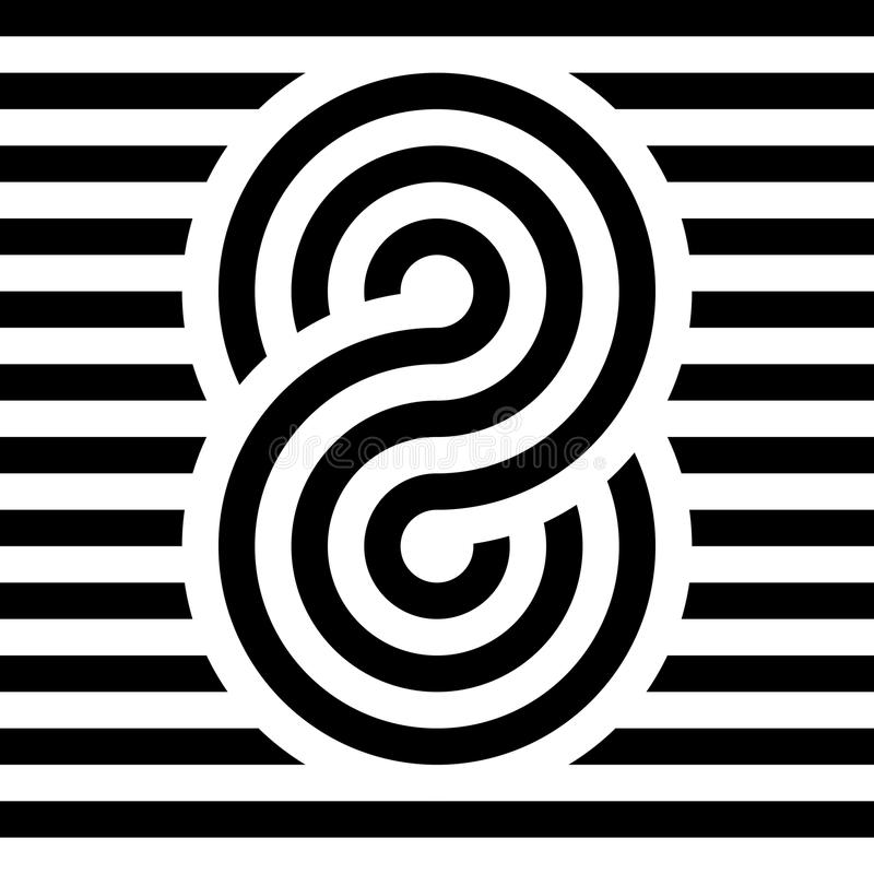 Unendlichkeits-Symbol-Ikone Darstellung des Konzeptes der unbegrenzten, grenzenlosen und endlosen Sachen Mehrkanalvektordesign stock abbildung